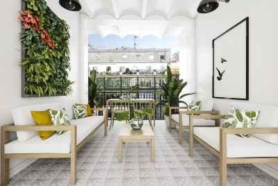 Солнечная квартира с большой террасой